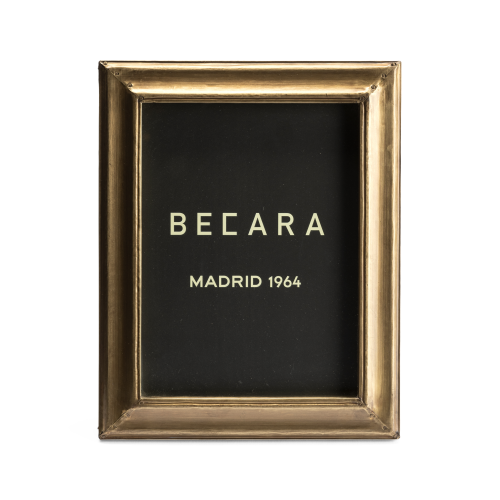 Golden rectangular photoframe
