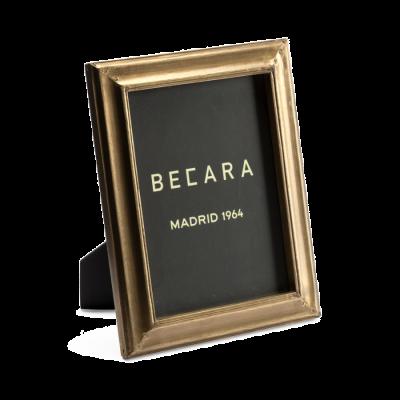 Marco de fotos dorado rectangular - BECARA