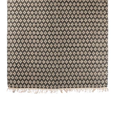 Geometric big black carpet