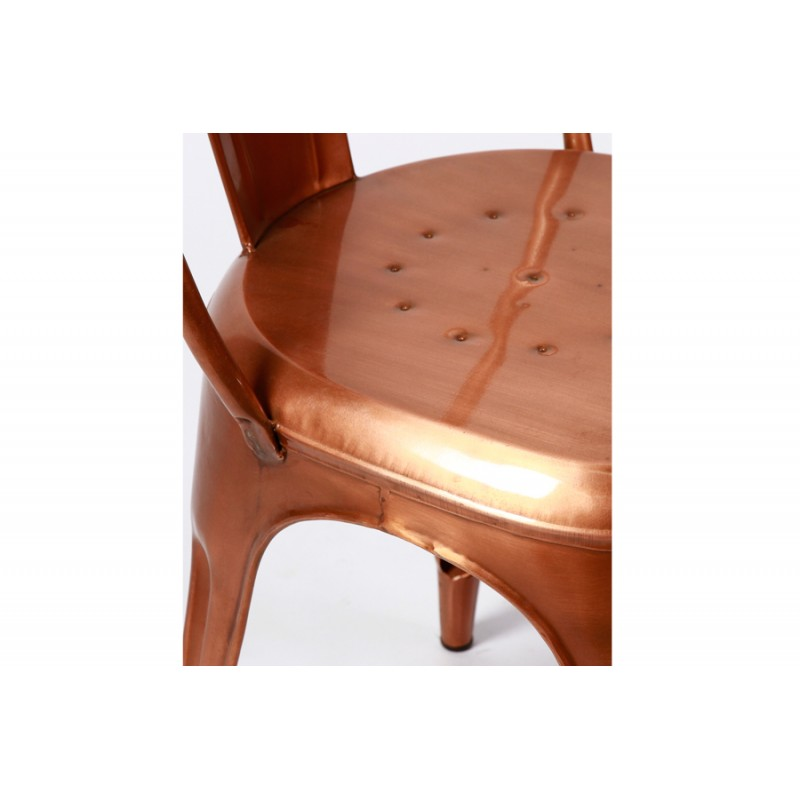 Coppery metal chair