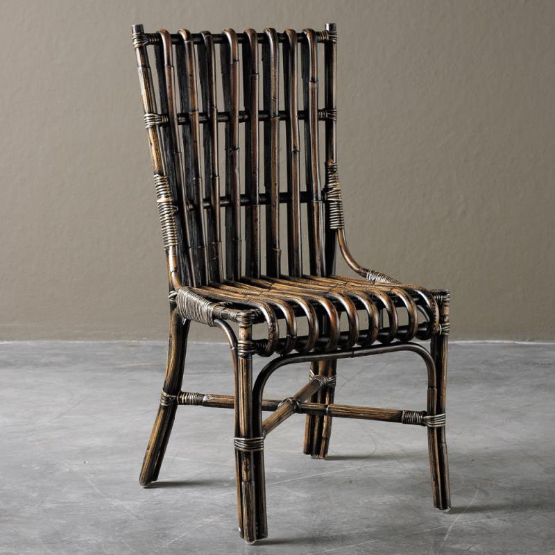 Black bamboo chair