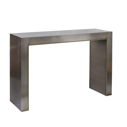 Iron console with golden edge