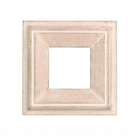 Marco cuadrado de madera crema