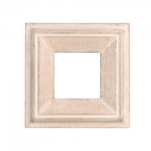 Marco cuadrado de madera crema - BECARA