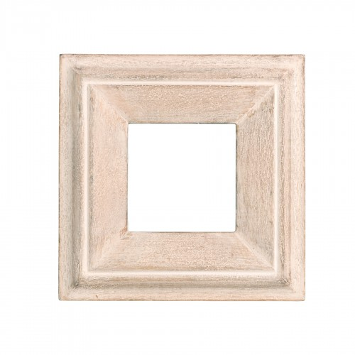 Cream wooden square frame