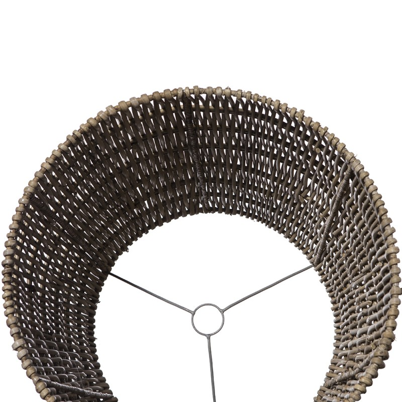 Rattan cylindrical shade