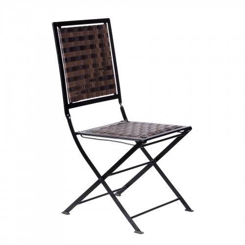 Iron folding chair