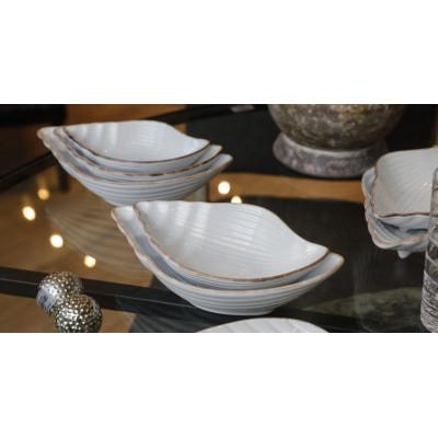Medium ceramic snail bowl