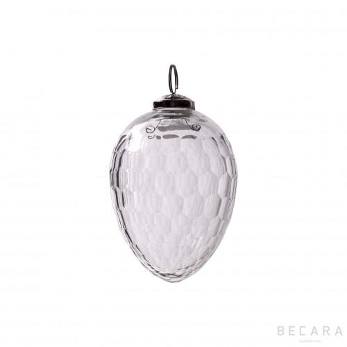 Bola de Navidad ovalada pequeña - BECARA