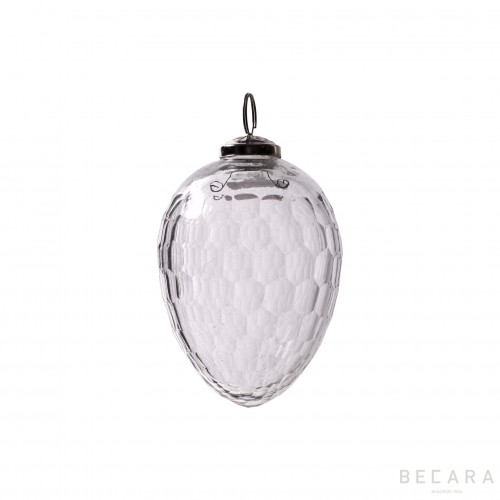 Small oval Christmas ornament