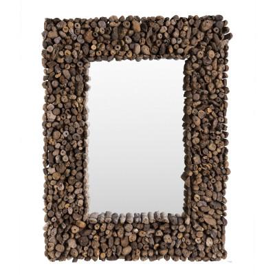 Espejo palos de madera 86x65cm