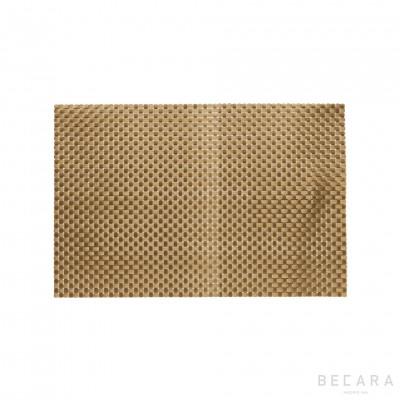 Mantel individual dorado
