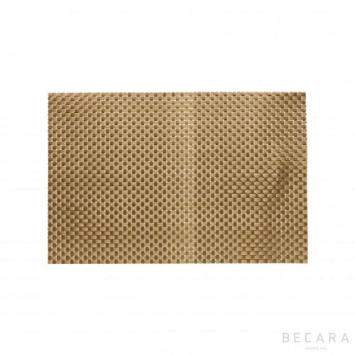 Mantel individual dorado - BECARA