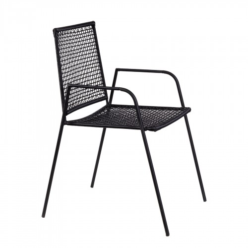 RATTAN AND IRON CHAIR