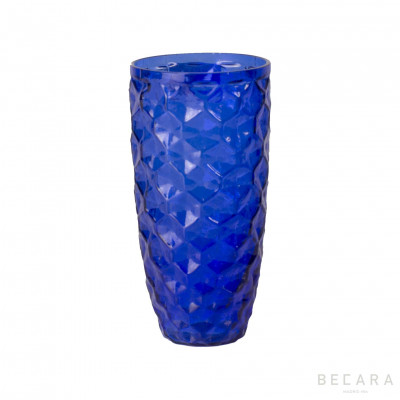 Ice blue tall glass