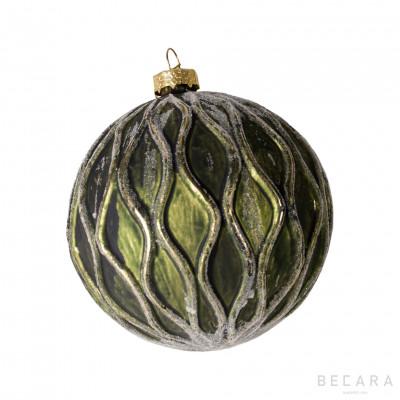 Bola de Navidad verde y dorada - BECARA