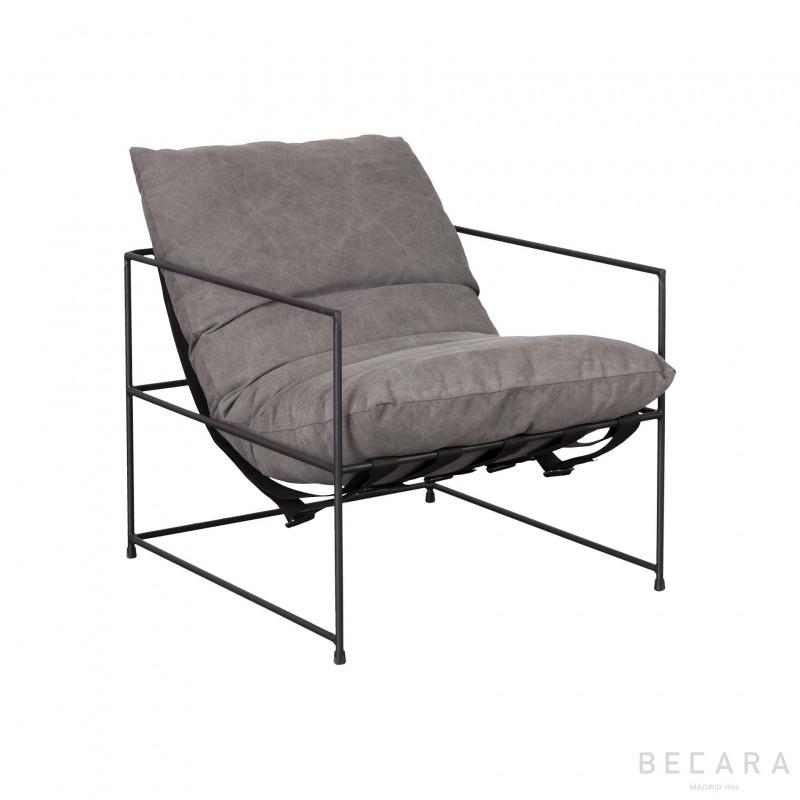 Club gray armchair