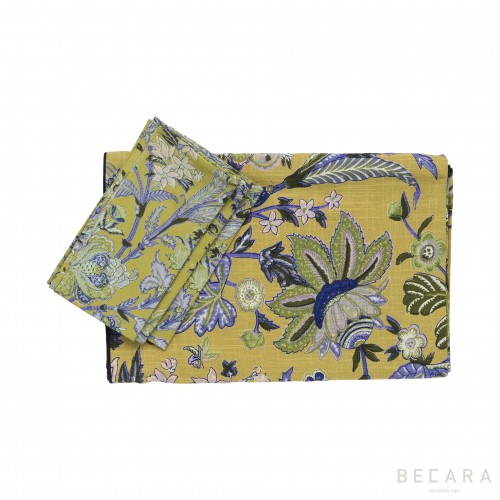 Mantel cuadrado y 6 servilletas Hawaii  - BECARA