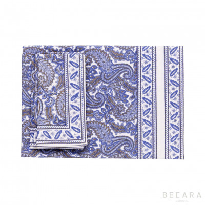 Shatoosh blue  tablecloth...