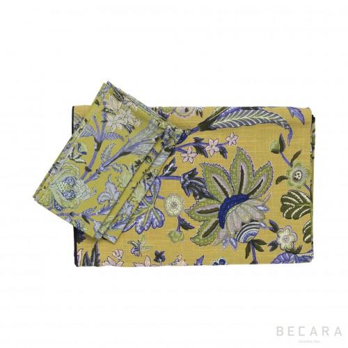 Mantel y 8 servilletas Hawaii  - BECARA