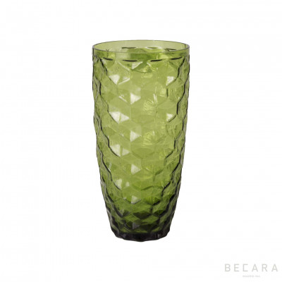 Green large Ice glass