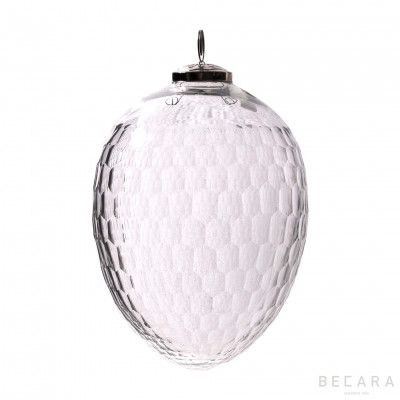 Large oval Christmas ornament