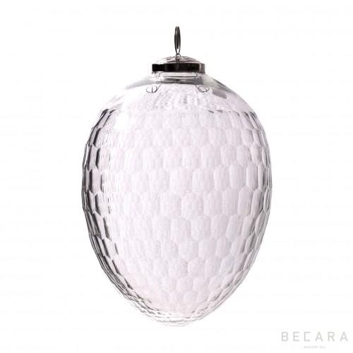 Bola de Navidad ovalada grande - BECARA