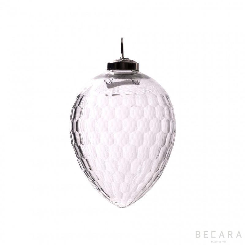 Bola de Navidad ovalada mediano - BECARA