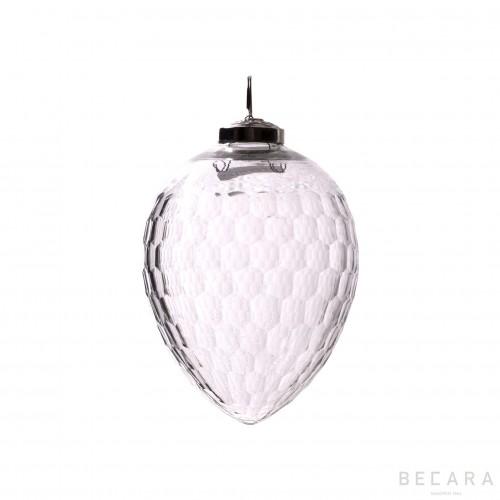 Medium oval Christmas ornament