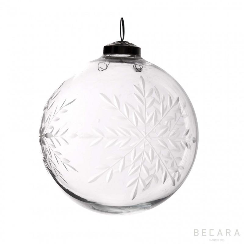 Bola de Navidad copo grande - BECARA