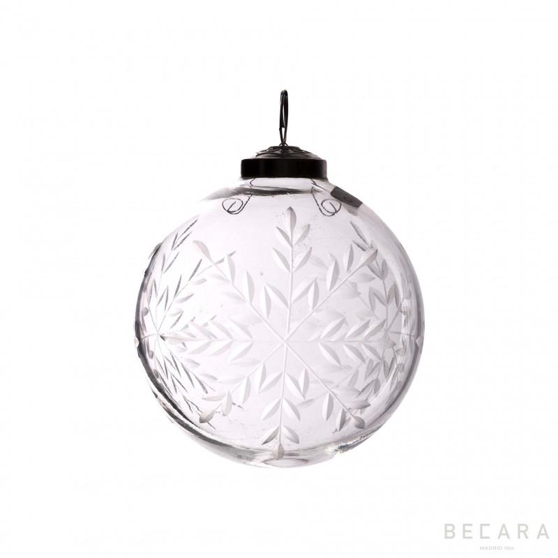 Bola de Navidad copo mediano - BECARA