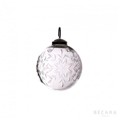 Bola de Navidad copo pequeño - BECARA