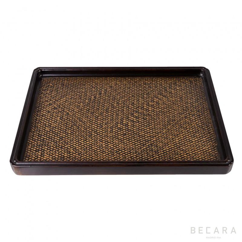 Large rattan tray