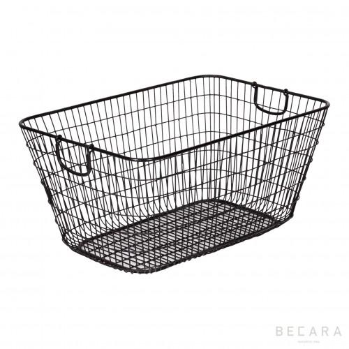 Large iron basket