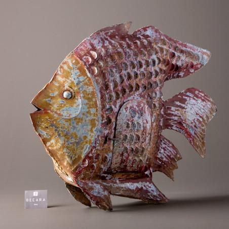 MULTICOLOURED FISH CANDLE HOLDER 46 CM