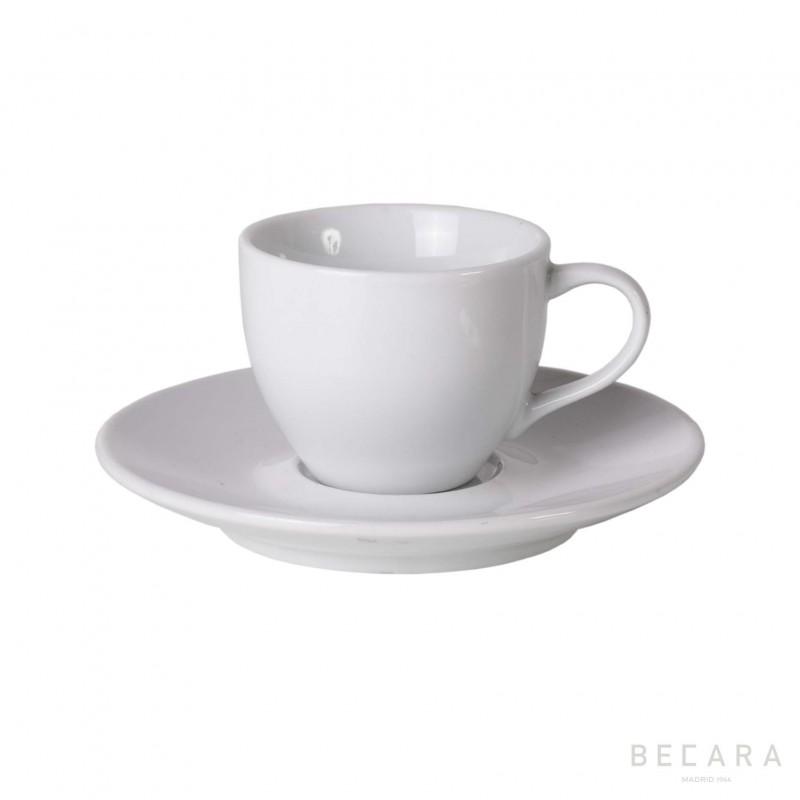 Taza de café solo con plato - BECARA