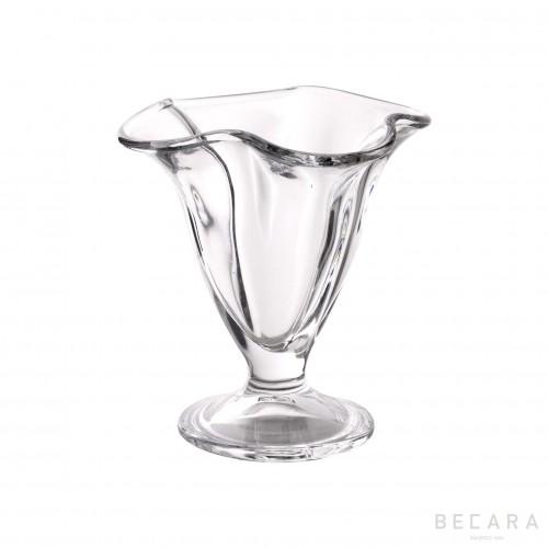 Waves ice cream glass