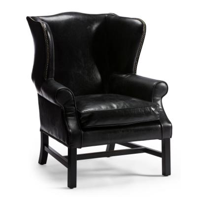 Black wing armchair
