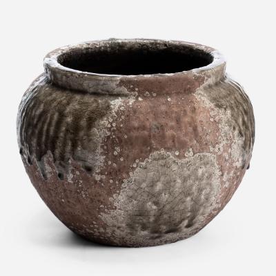 Big round rustic flower pot