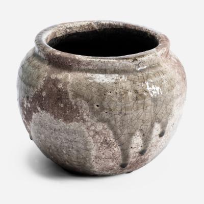 Medium round rustic flowerpot