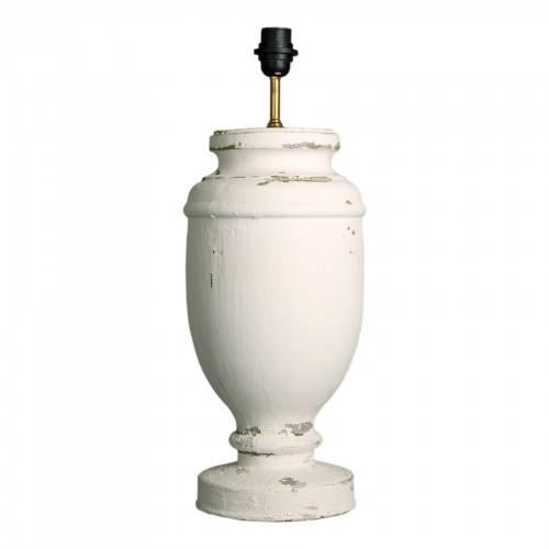 Lámpara de mesa urna blanca
