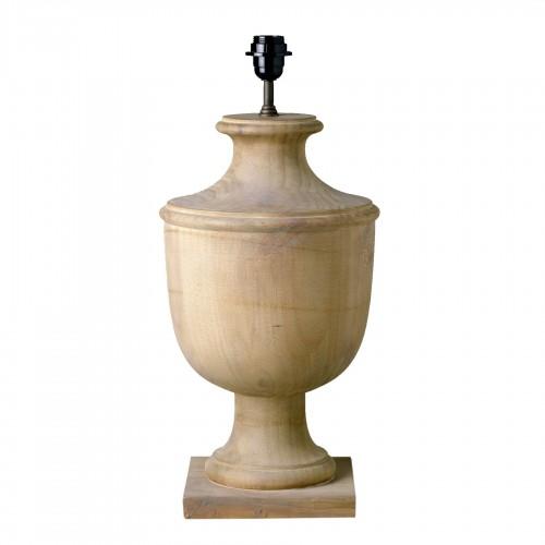Lámpara de mesa de madera de teca