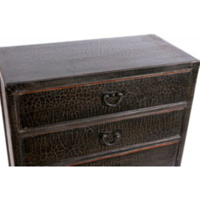 Black caviar finish dresser