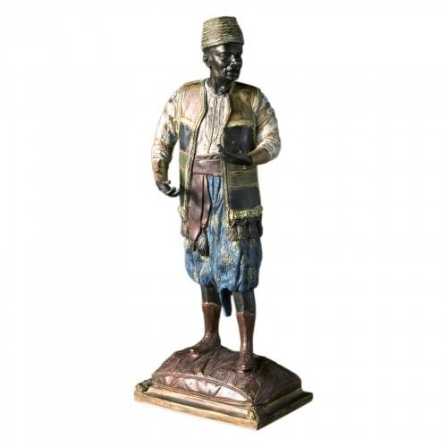 Baggy trousers bronze figure