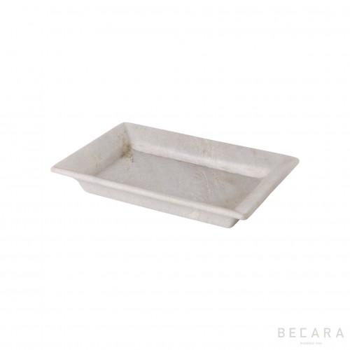 Bandeja blanca mediana - BECARA