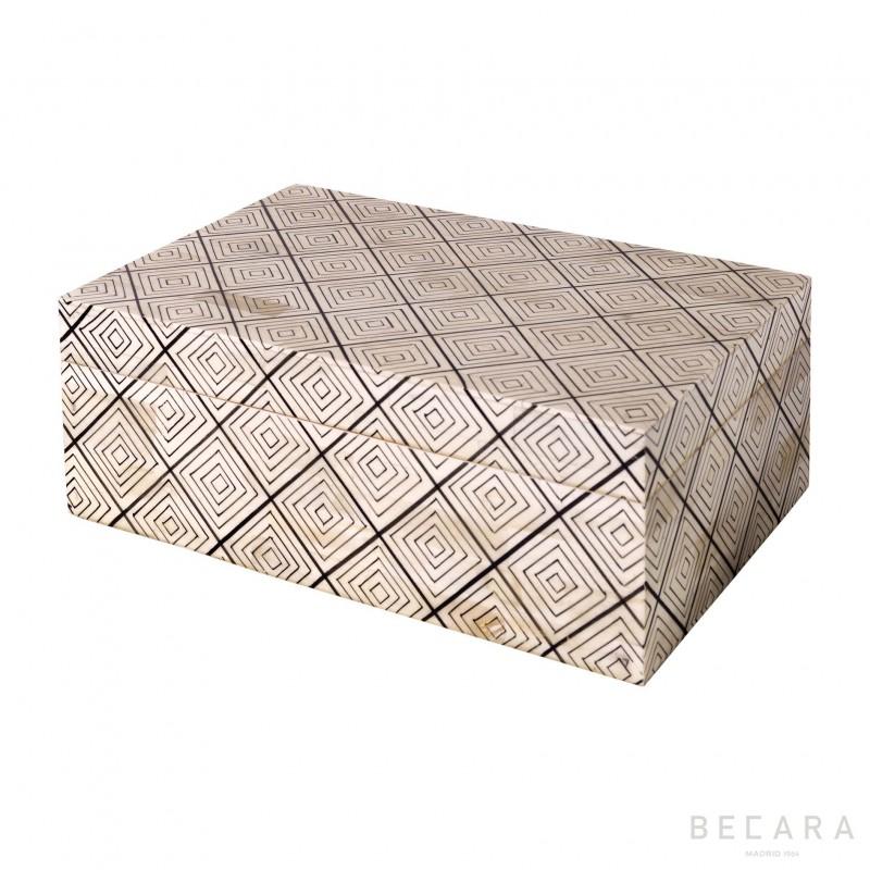 Caja rectangular motivos grande - BECARA