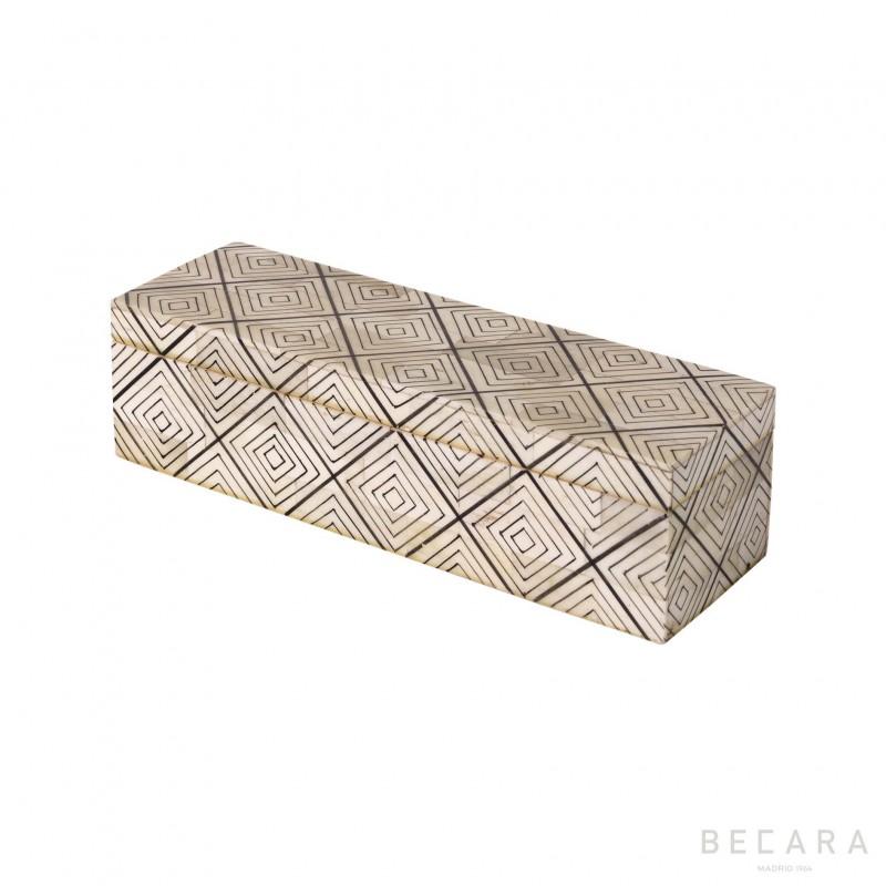 Caja rectangular motivos pequeña - BECARA