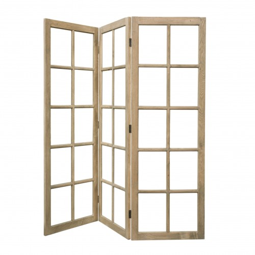 Natural screen room divider with glasses