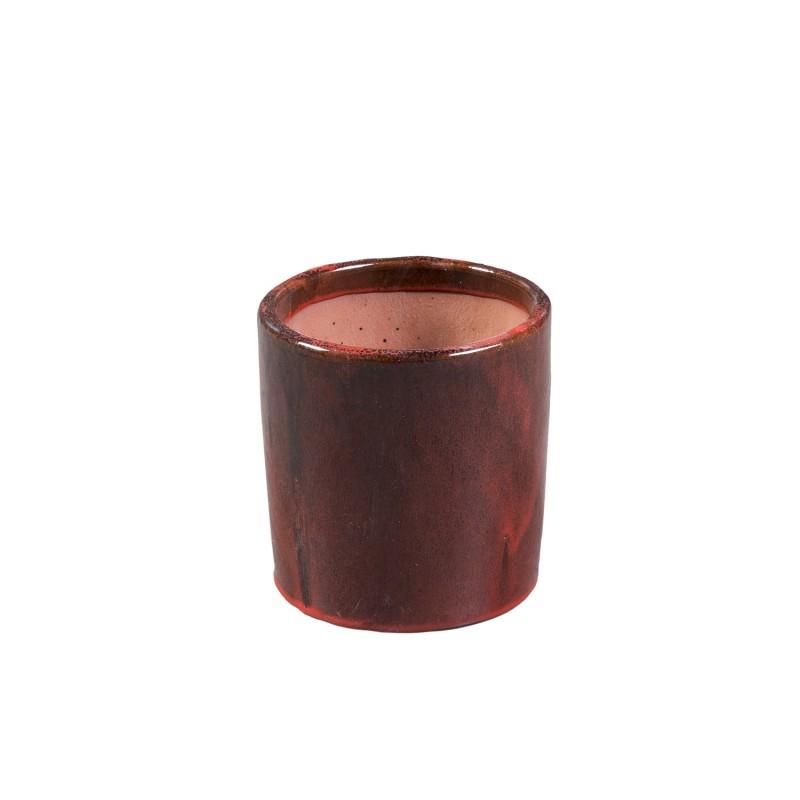 Ø20cm round red flowerpot
