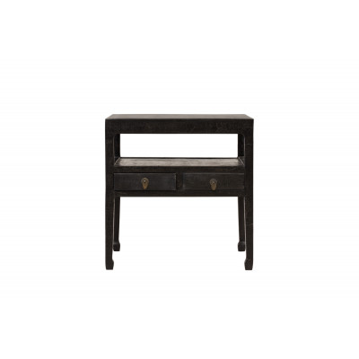 Black caviar side table